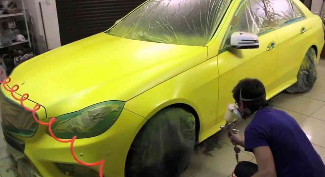 Покраска авто металликом своими руками в гараже 92